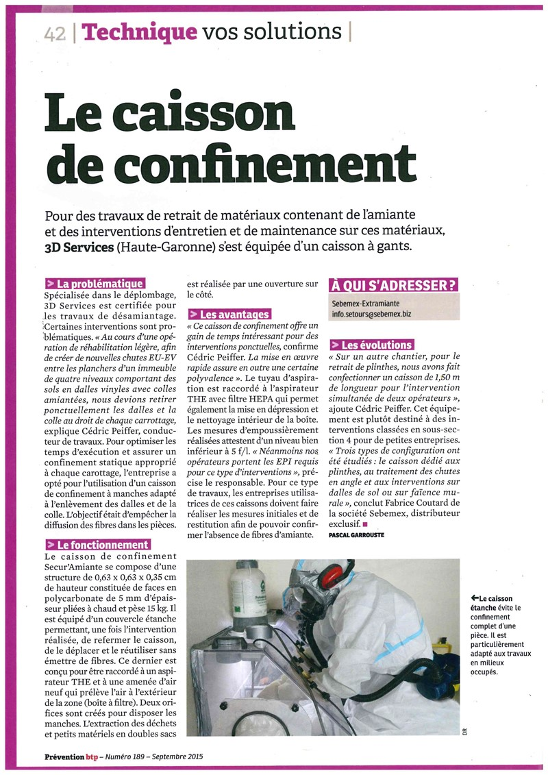 article OBBTP prévention amiante